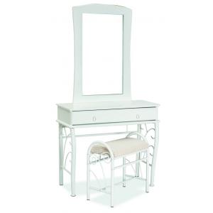 Toaletka 1012 z lustrem i stołkiem biała