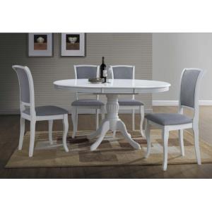 Stół Olivia biały okrągły rozkładany Signal