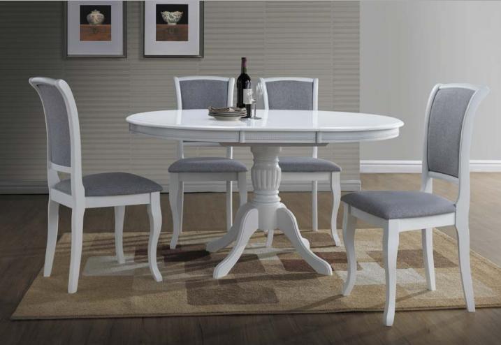 Bardzo dobryFantastyczny Stół Olivia biały okrągły rozkładany Signal - Dostawca Mebli KE19
