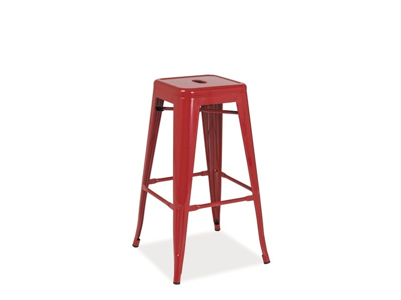 Krzesło hoker metalowy Long malowany