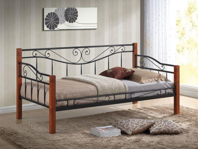 Łóżko Kenia 90x200 czarne