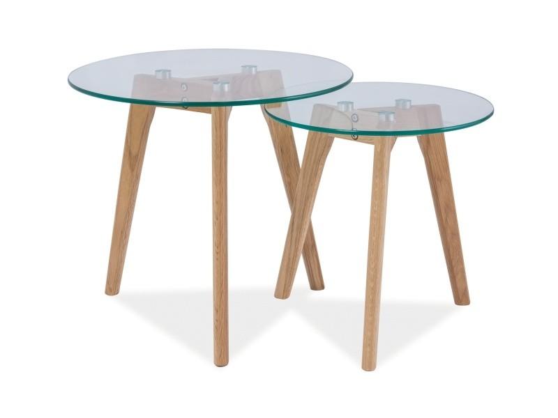 Zestaw stolików szklanych Oslo S2
