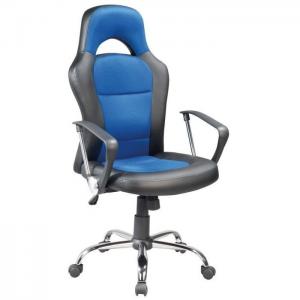 Fotel obrotowy Q-033 - czarno niebieski