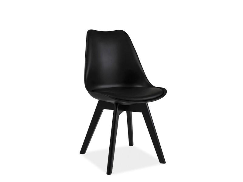 Krzesło Kris czarny stelaż