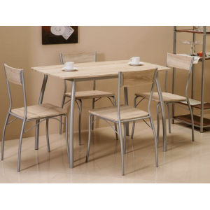Zestaw Modus stół z krzesłami - Dąb sonoma