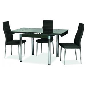 Stół szklany rozkładany GD-082 131(80)x80 cm