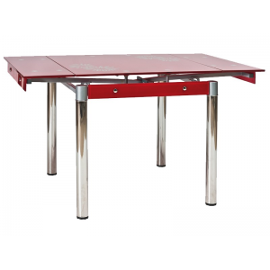 Stół GD-082 131(80)x80 - Czerwony