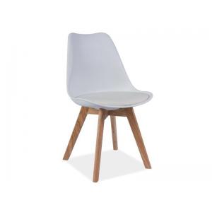 Krzesło Kris bukowe nogi - Biały