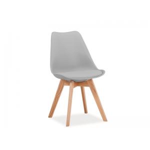 Krzesło Kris bukowe nogi - Jasno szary