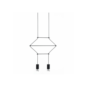 Lampa wisząca FLUSSO 2 czarna