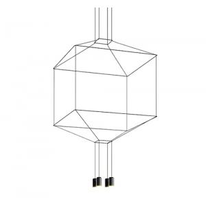 Lampa wisząca FLUSSO 4 czarna