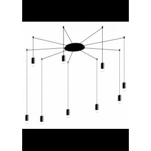 Lampa wisząca FLUSSO ARM 9 czarna