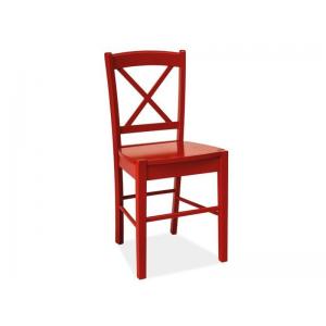 Krzesło drewniane CD-56 Signal - Czerwony