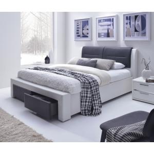 Łóżko CASSANDRA S czarno-biały 160x200 Halmar