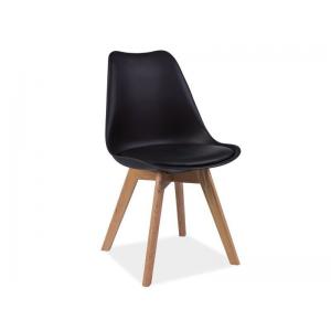 Krzesło Kris Dębowe Nogi Signal - Czarny