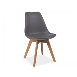 Krzesło Kris Dębowe Nogi Signal - Szary