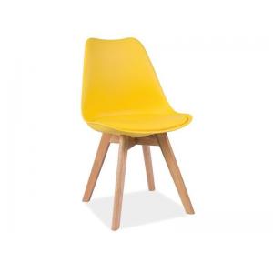Krzesło Kris Dębowe Nogi Signal - żółty
