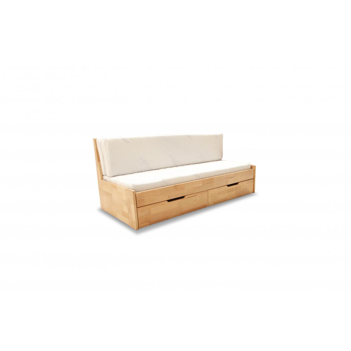 łóżko Rozkładane Dwuosobowe Duo A 180x200 Bukowe