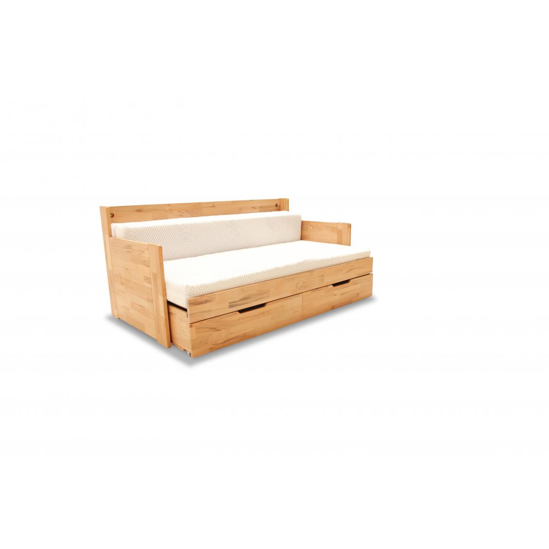 łóżko Rozkładane Dwuosobowe Duo C 180x200 Bukowe