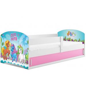 Łóżko LUKI pojedyncze  160x80 białe