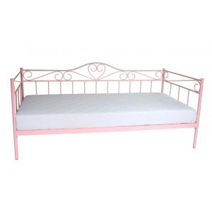 Łóżko Padwa 90x200 różowe Furni