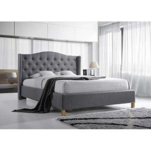 Łóżko Aspen 140x200 tapicerowane szare Signal
