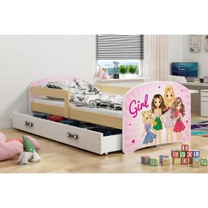 Łóżko LUKI pojedyncze z szufladą  160x80 grafit