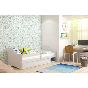 Łóżko SOFIX 1 Pojedyncze Z Szufladą 160x 80 cm Biały