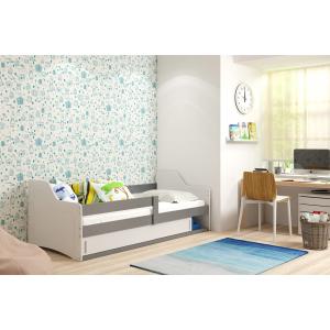 Łóżko SOFIX 1 Pojedyncze Z Szufladą 160x 80 cm Grafit