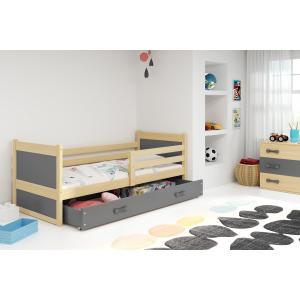 Łóżko RICO pojedyncze z szufladą 190x 80 cm sosna