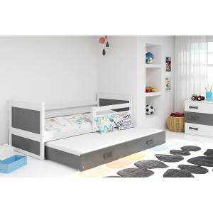 Łóżko RICO 2 osobowe wysuwane 190x80 białe
