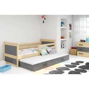 Łóżko RICO 2- osobowe wysuwane 190x80 sosna