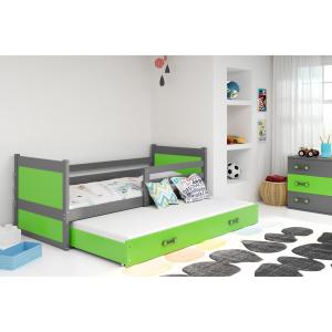 Łóżko RICO dwuosobowe wysuwane 190x80 grafit