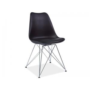Krzesło z tworzywa TIM - Czarny