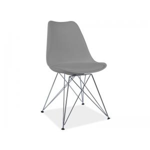Krzesło z tworzywa TIM - Szary