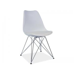 Krzesło z tworzywa TIM - Biały