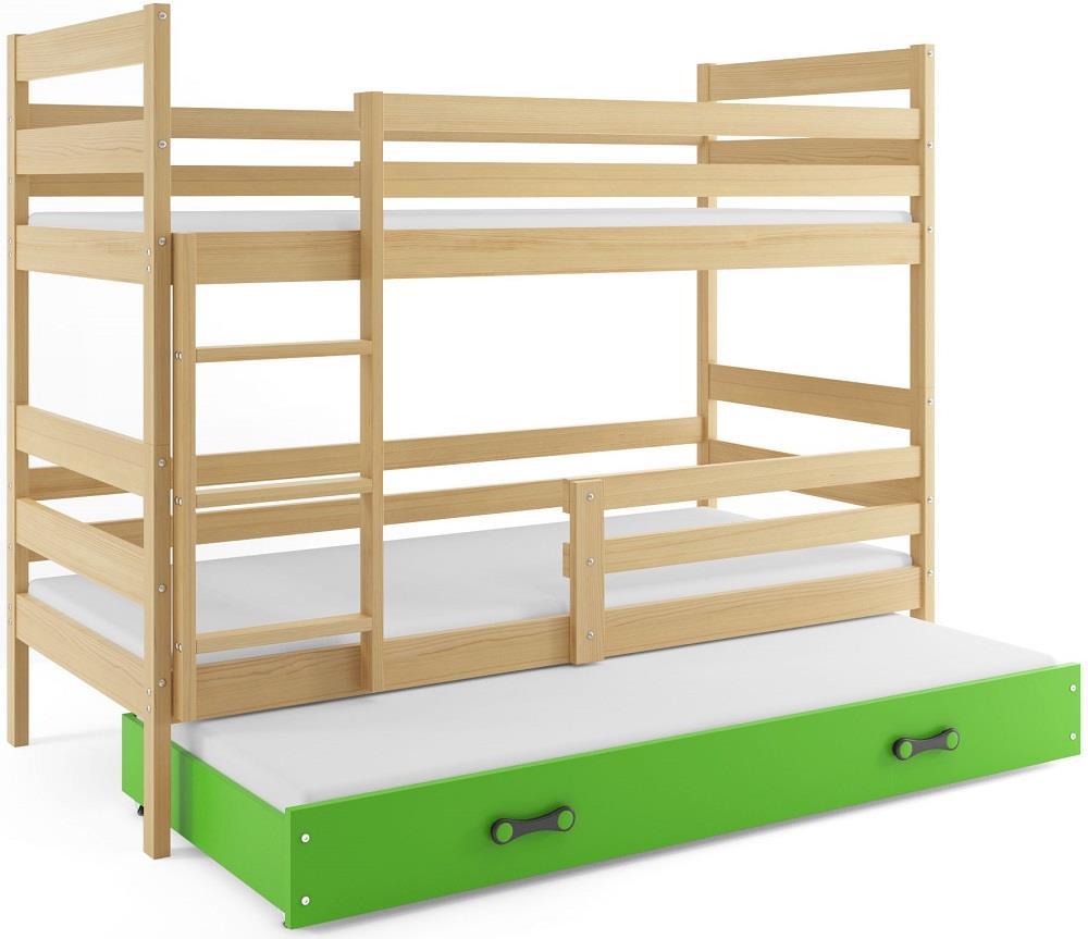 Łóżko Piętrowe Trzyosobowe ERYK 160x80 Sosna