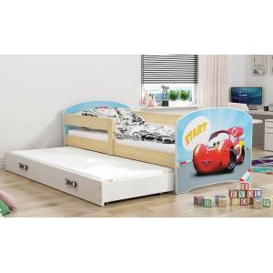 Łóżko LUKI dwuosobowe wysuwane 160x80 sosna