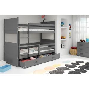 Łóżko piętrowe 2 osobowe RICO 160 x 80 grafit