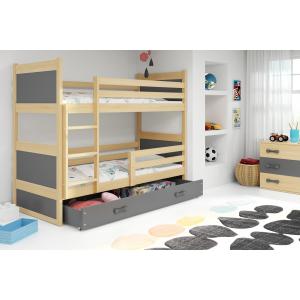 Łóżko piętrowe 2 osobowe RICO 160 x 80 sosna