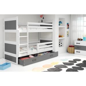Łóżko piętrowe 2 osobowe RICO 190x 80 białe