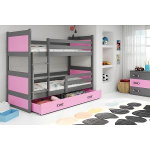 Łóżko piętrowe 2 osobowe RICO 190x 80 grafit