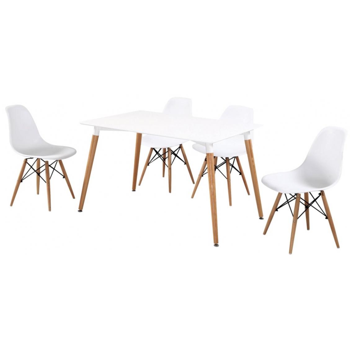 Zestaw Visby stół  + 4 krzesła PT-15/PC-015 Furni