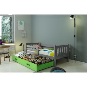 Łóżko CARINO 2 osobowe wysuwane 190 x 80 grafit