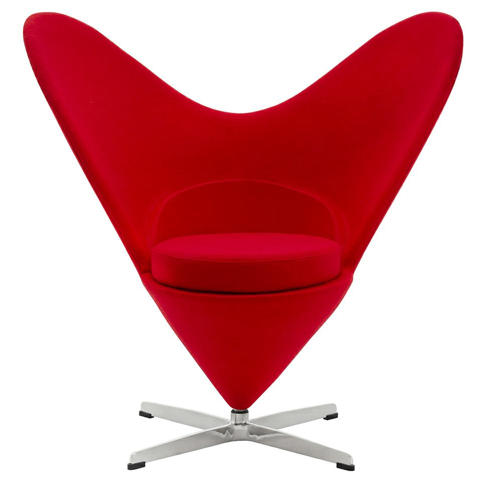 Fotel Serce czerwony