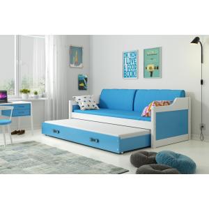 Łóżko Dwuosobowe Wysuwane DAWID 200x90 Białe