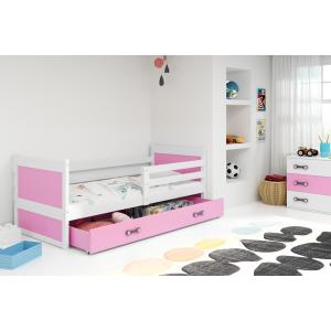 Łóżko Jednoosobowe RICO Z Szufladą 200x90 Białe