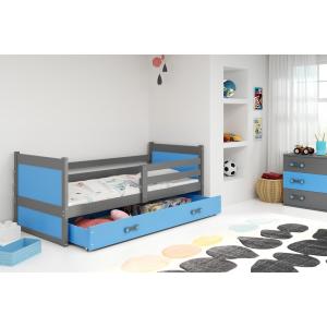 Łóżko RICO pojedyncze z szufladą 200x 90 cm grafit