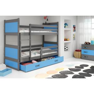 Łóżko piętrowe 2 osobowe RICO 200x 90 cm grafit