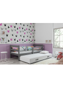 Łóżko Dwuosobowe Wysuwane ERYK 200x90 Grafit